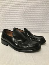 c53327195 Lacoste Men s Black Leather Slip On Loafers Size 7 W Logo