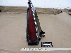 70 Cadillac Deville LEFT TAIL LIGHT LENS BEZEL QUARTER PANEL FENDER EXTENSION
