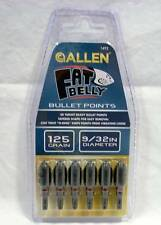 """Allen Archery #1492 Fat Belly 125 Grain 9/32"""" Bullet Field Target Points"""