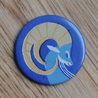 Vintage USSR Soviet Union Cartoon Capricorn Pin Badge