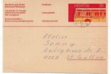 Suiza Entero Postal circulado año 1974 (DI-732)