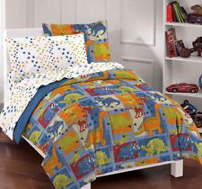 Full Size Bedding Sets Dinosaur Kids Comforter Boys Girls Bedspread Sheets Blue