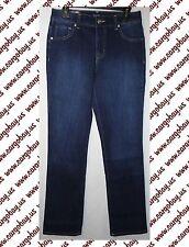 Bandolino Stretch Dark Wash Blue Jeans Straight Leg Size 6 New Samantha Six