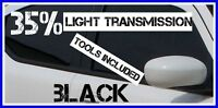BLACK 40% LIGHT TRANSMISSION CAR WINDOW TINTING FILM 3m X 75cm TINT + FREE KIT