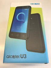 """Brand New Alcatel U3 2018 4"""" Smartphone Quad-Core 4GB Android Tesco Mobile Black"""
