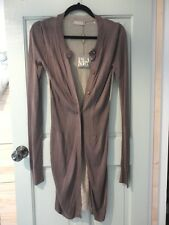 NEW BNWT RRP:£99.00 PLANET - MOCHA & GOLD METALLIC LONG CARDIGAN XSMALL DESIGNER