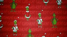 LINED VALANCE 42X15 GRINCH WHO STOLE CHRISTMAS DR SEUSS PRESENTS HOLIDAY
