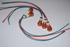 5Pcs 6V AC/DC 10mm YELLOW  Panel Mounting LED Indication Signal Pilot Lights