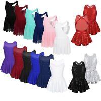 Girls Ballet Lyrical Dance Dress Modern Contemporary Costume Leotard Dancewear