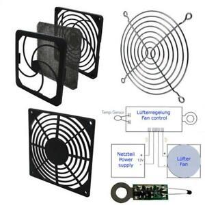 Metall Kunststoff Lüftergitter Filter Zubehör für Lüfter