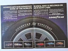GOODYEAR Wingfoot advert / Publicidad Publicite Reklame Tyre Tire Corvette BMW