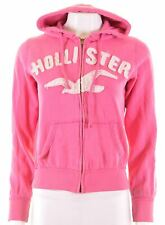 HOLLISTER Womens Hoodie Sweater Size 10 Small Pink Cotton Loose Fit  EM37