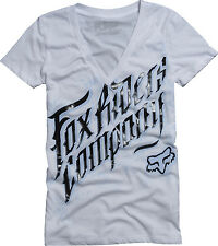 Fox Racing Fox Girl Accelerate Vneck White, Small