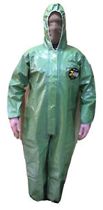 Kappler 400 Zytron Protection Disposable Coverall Green Model Z4H438MO New #1522