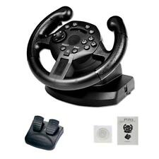 Racing Game Steering Wheel Driving W/ Brake Pedal For PC PS3 One H3Y5R