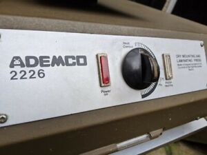 Ademco 2226 Dry Mounting and Laminating Press - GREAT condition