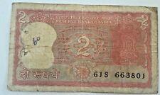 INDIA 2 rupees ND (1970) P52 Asoka column / tiger Inde