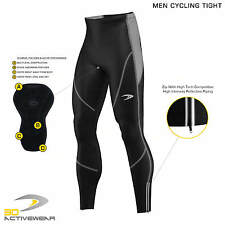 Mens Padded Cycling Tights Bike Compression Trousers Bicycle Long Pants Leggings