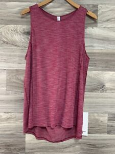NWT Lululemon Low Key Tank *Silver - Size 10, Heathered Ruby Red HERD X-STATIC