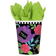 8pk Mad Tea Party Bicchieri di carta alice nel paese delle meraviglie Compleanno Stoviglie