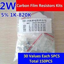 1set 2w Carbon Film Resistors Kits 5 1k To 820k 30 Values Each 5pcs