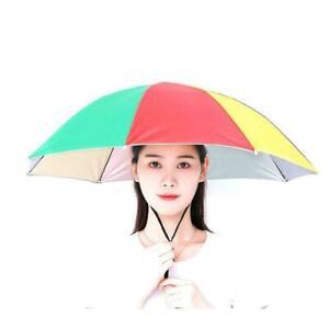 Umbrella Hat Sun Shade Golf Camping Fishing Hiking Hot Outdoor Foldable X2K7