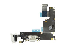 "OEM USB Charging Port Dock Mic Headphone Flex Cable for iPhone 6 PLUS 5.5"" White"