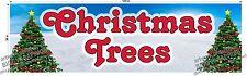 3' X 10' Vinyl Banner Christmas Trees