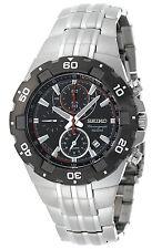 SEIKO SNAD35 SNAD35P1 Mens Aviator Chronograph Alarm Black Dial 100m Watch