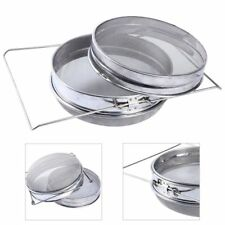 Stainless Steel Beekeeping Double Honey Sieve Strainer Filter Equip Tool US Ship