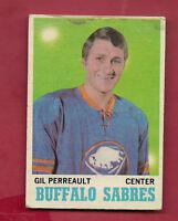 1970-71 OPC  # 131 SABRES GIL PERREAULT  ROOKIE  CARD