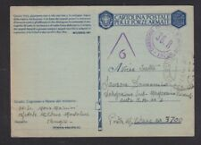 ITALY 1943 CENSORED MILITARY POSTAL STATIONERY CARD PERUGIA TO MPO 3700