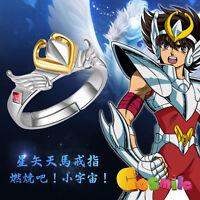 Saint Seiya Saint Cloth Myth Seiya tianma Bronze Shield Ring 925 Silver Cos Gift