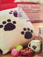 KNITTING PATTERN Dog Paw Cushion Cover & Mug Hug Home King Cole PATTERN
