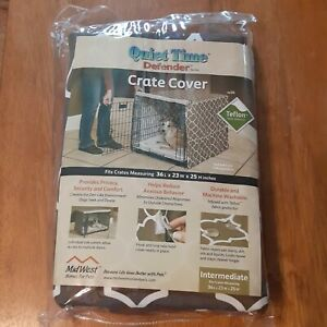 Interm Quiet Time Defender Series Crate Cover Brown Teflon Washable NIP 36x23x25