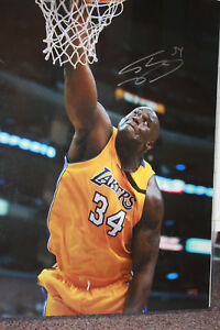 Shaquille Shaq O'Neal signed  20x16 Photo Mounted Memories