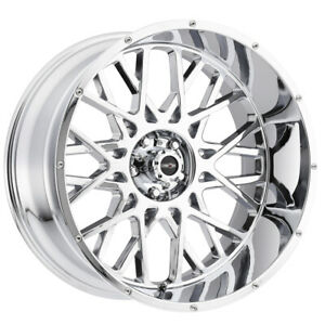 "Vision 412 Rocker 18x9 6x5.5"" -12mm Chrome Wheel Rim 18"" Inch"