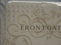 Frontgate Ivory Standard Embroidered luxury Shams bed  Pillow Cover 1200 tc
