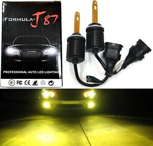 LED Kit M10 100W 899 3000K Yellow Two Bulb Fog Light Upgrade Replacement Lamp OE