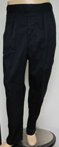POLO Men's Military Crew Trousers Pleated Cuffed 40 x 28 in Aviator Navy NWT$148