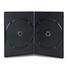 3 X BOITIERS RANGEMENT 2 CD / DVD EPAIS. 7MM NOIR SLIM 190x135x7mm