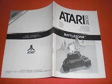 Notice Battlezone [PAL] Atari 2600 NO Super Nintendo *JRF*