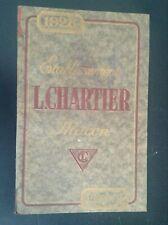 Ancien catalogue Chartier Fonderie Macon 1928  TBE