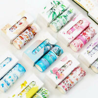 5pcs/box Washi Tapes Adhesive Tape Paper Crafts Holiday Gift Wrapping Stylish