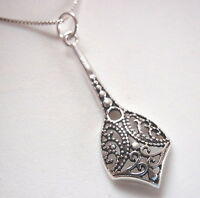 Long Filigree 925 Sterling Silver Necklace Corona Sun Jewelry