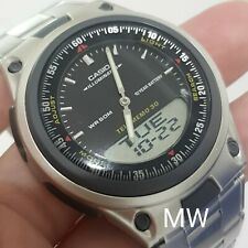 New Casio AW-80D-1A Sports Analog Digital Databank World Time Alarm Men's Watch