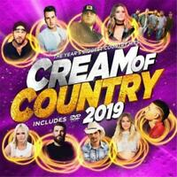 CREAM OF COUNTRY 2019 CD/DVD NEW Kane Brown Brad Paisley Lee Brice Chris Young
