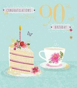 Age 90 Celebrating Congratulations 90th Tea & Cake  Birthday Card New