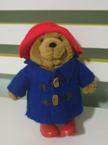 PADDINGTON BEAR PLUSH TOY RED PLASTIC BOOTS 19CM TALL 2005 CHARACTER TOY