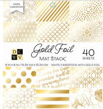 DCWV Gold Foil 40 Sheets (6x6 Cardstock Pad)